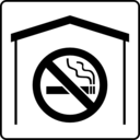 download Hotel Icon No Smoking In Room clipart image with 315 hue color