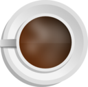Realistic Coffee Cup Top View