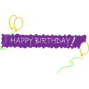 download Birthday Banner 5 clipart image with 45 hue color