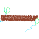 download Birthday Banner 5 clipart image with 135 hue color