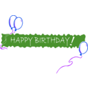 download Birthday Banner 5 clipart image with 225 hue color