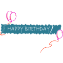download Birthday Banner 5 clipart image with 315 hue color