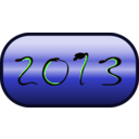 download Happy New Year 2013 clipart image with 45 hue color