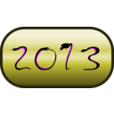 download Happy New Year 2013 clipart image with 225 hue color