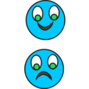 download Happy Sad clipart image with 135 hue color