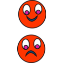 download Happy Sad clipart image with 315 hue color