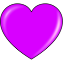 download Pink Heart clipart image with 315 hue color