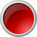 Glossy Red Button