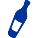 Wine Bottle Blue
