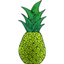 download Alternative Pineapple clipart image with 45 hue color