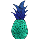 download Alternative Pineapple clipart image with 135 hue color