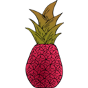 download Alternative Pineapple clipart image with 315 hue color