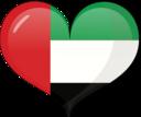 United Arab Emirates Heart Flag