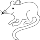 download Mouse clipart image with 225 hue color