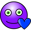 download Emoticons Loving Face clipart image with 225 hue color