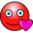 download Emoticons Loving Face clipart image with 315 hue color