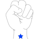 download Revolution Fist clipart image with 225 hue color