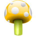 download Mushroom One clipart image with 45 hue color