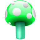 download Mushroom One clipart image with 135 hue color