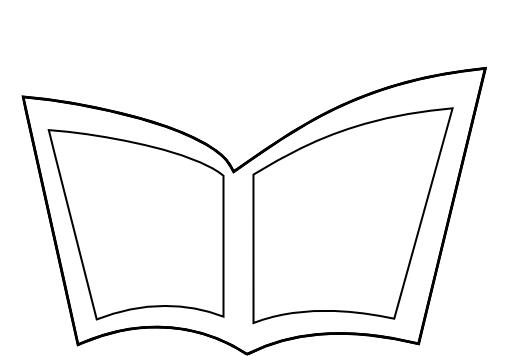 رسمة كتاب مفتوح للتلوين