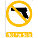 download Not For Sale clipart image with 45 hue color