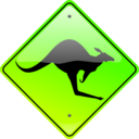 download Kangaroo Sign clipart image with 45 hue color
