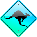download Kangaroo Sign clipart image with 135 hue color