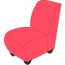 Red Armless Chair
