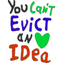 download You Can Not Evict An Idea clipart image with 135 hue color