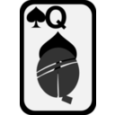download Queen Of Spades clipart image with 315 hue color