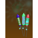 download Fireworks clipart image with 135 hue color