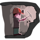download Miner clipart image with 315 hue color