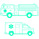 download Fire And Ems Vehicles clipart image with 135 hue color