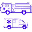 download Fire And Ems Vehicles clipart image with 225 hue color