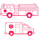 download Fire And Ems Vehicles clipart image with 315 hue color