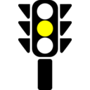 Traffic Semaphore Yellow Light