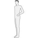 Male Body Silhouette Side
