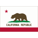 Flag Of California Solid Color Border