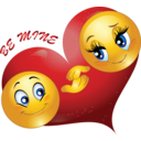 Be Mine Couple Smiley Emoticon Valentine