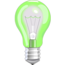 download Light Bulb On clipart image with 45 hue color