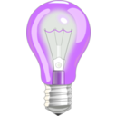 download Light Bulb On clipart image with 225 hue color