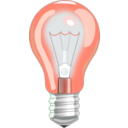 download Light Bulb On clipart image with 315 hue color