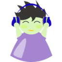 download Boy With Headphone5 clipart image with 45 hue color