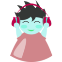 download Boy With Headphone5 clipart image with 135 hue color