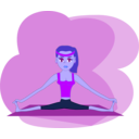 download Fitness Girl clipart image with 225 hue color