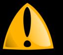 Warning Sign Orange Rounded