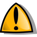 Warning Sign Orange Rounded
