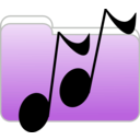 download Music Folder Icon clipart image with 90 hue color