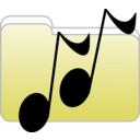 download Music Folder Icon clipart image with 225 hue color