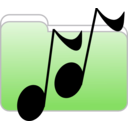 download Music Folder Icon clipart image with 270 hue color